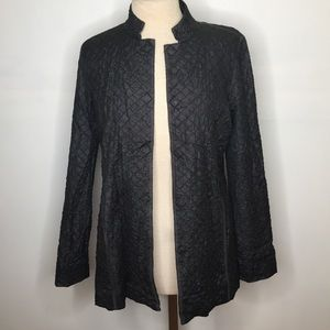 Eileen Fisher Quilted Long cardigan sz Small